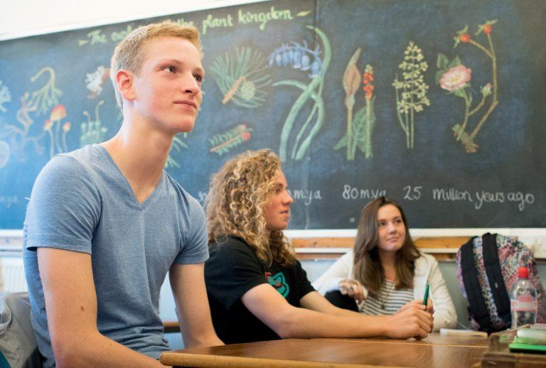Biology class at Steiner School