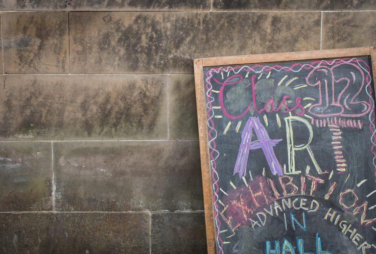 Art exhibit sign