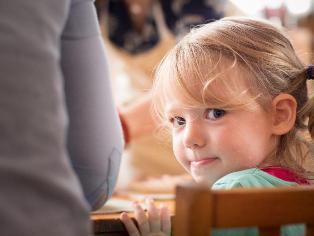 Child in Edinburgh Steiner School playgroup